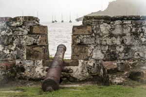 Sailboats and Fort San Jeronimo, Portobelo, Panama by Jonathan Kingston