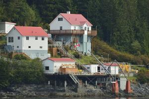 The Boat Bluff Lighthouse Marks the Entrance to the Tolmie Channel, on the Inside Passage by Jonathan Kingston