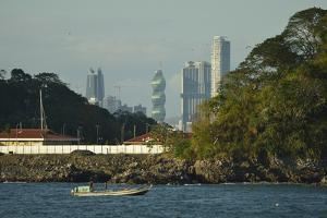 View of the Skyline of Panama City Rising Above the Shoreline by Jonathan Kingston
