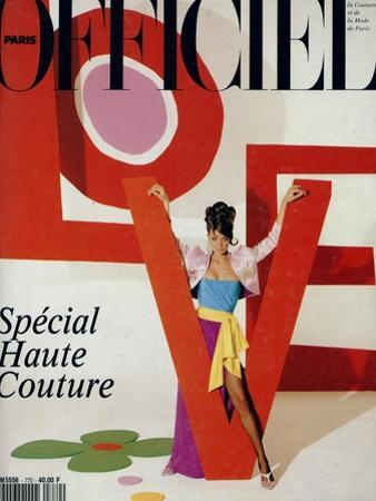 L'Officiel, March 1992 - Love, Le Mot Fétiche d'Yves Saint Laurent by Jonathan Lennard