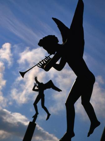 Angel Statues in Millesgarden, Stockholm, Sweden