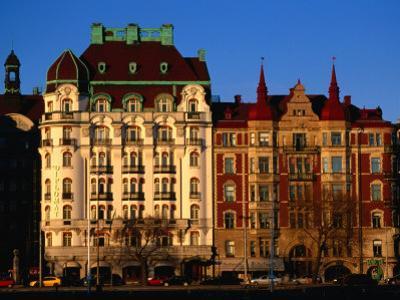 Buildings on Strandvagen River, Stockholm, Sweden