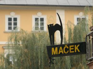 Cafe Sign at Macek, Ljubljana, Slovenia by Jonathan Smith