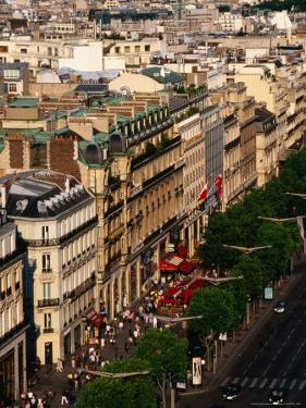 Champs Elysees Seen from Arc De Triomphe, Paris, France by Jonathan Smith