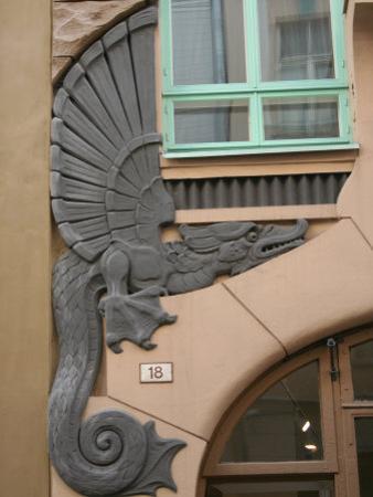 Detail of Draakoni Gallery, Tallinn, Estonia