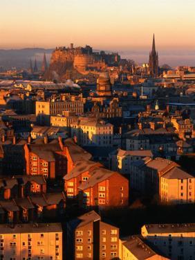 Edinburgh Castle and Old Town Seen from Arthur's Seat, Edinburgh, United Kingdom by Jonathan Smith