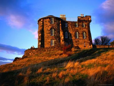Exterior of City Observatory on Calton Hill, Edinburgh, United Kingdom