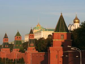 Exterior of Kremlin Towers and Great Kremlin Palace, Moscow, Russia by Jonathan Smith
