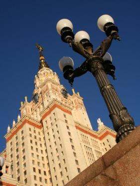 Moscow State University with Lamp-Post in Foreground, Moscow, Russia by Jonathan Smith