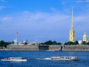 Neva from Troisky Bridge, St. Petersburg, Russia by Jonathan Smith