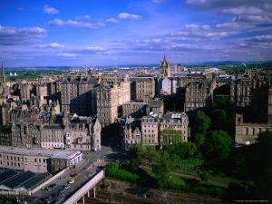 Old Town and Crown Spire of St. Giles Cathedral, from Scott Monument, Edinburgh, United Kingdom by Jonathan Smith