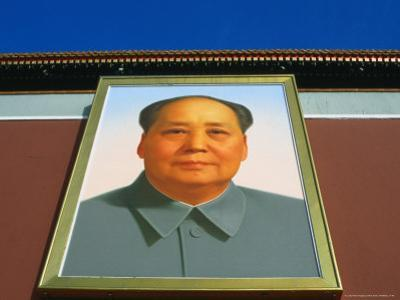Portrait of Mao Tse Tung Over Tiananmen Square, Beijing, China