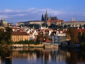 Prague Castle and Mala Strana (Small Quarter) Seen from Across Vltava River, Prague, Czech Republic by Jonathan Smith