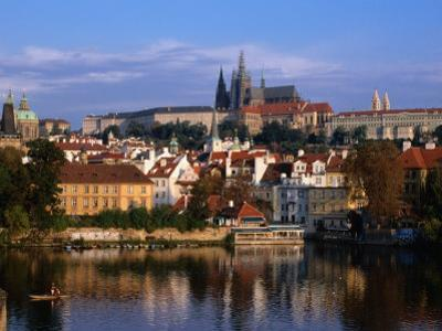 Prague Castle and Mala Strana (Small Quarter) Seen from Across Vltava River, Prague, Czech Republic