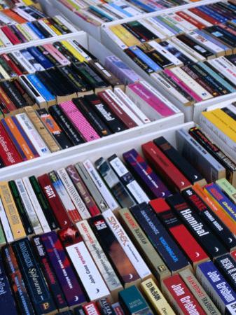 Second-Hand Paperback Books for Sale at Hotorgot Market, Stockholm, Sweden