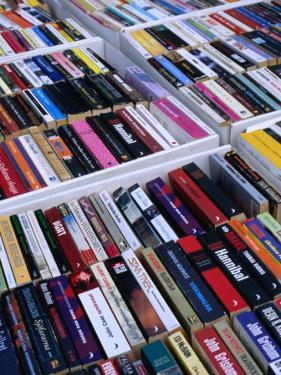 Second-Hand Paperback Books for Sale at Hotorgot Market, Stockholm, Sweden by Jonathan Smith