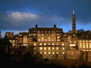 St Andrew's House and Monuments on Calton Hill, Edinburgh, United Kingdom by Jonathan Smith