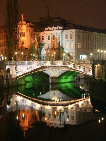 Triple Bridge, Central Pharmacy, Ljubljana, Slovenia