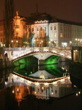 Triple Bridge, Central Pharmacy, Ljubljana, Slovenia by Jonathan Smith