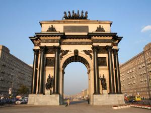 Triumphal Arch, Moscow, Russia by Jonathan Smith