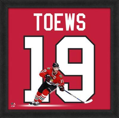 Jonathan Toews, Blackhawks Framed photographic representation of the player's jersey