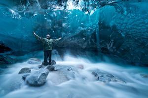 Self Portrait under a Glacier by Jonathan Tucker