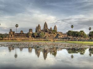 Panoramic View of Temple Ruins, Angkor Wat, Cambodia by Jones-Shimlock