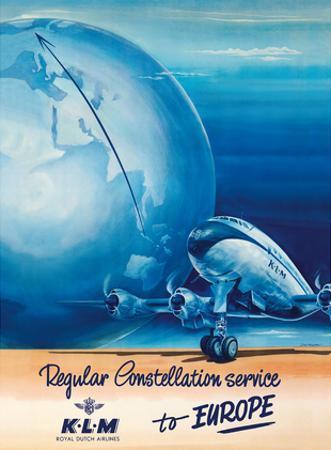 Regular Constellation Service to Europe - KLM Royal Dutch Airlines - Lockheed L-049 by Joop H. van Heusden