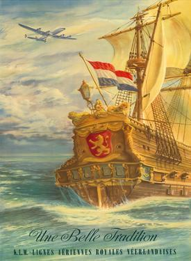 Une Belle Tradition (A Beautiful Tradition) - The Flying Dutchman -KLM Royal Dutch Airlines by Joop H. van Heusden