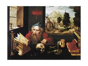St. Jerome in His Study by Joos Van Cleve