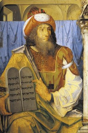 Moses with Ten Commandments, from Series of Portraits of Illustrious Men
