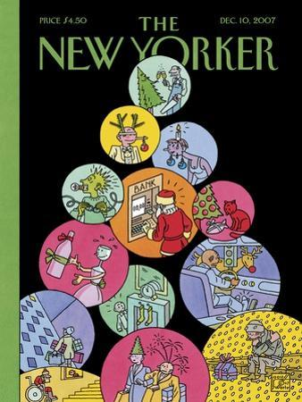 The New Yorker Cover - December 10, 2007 by Joost Swarte
