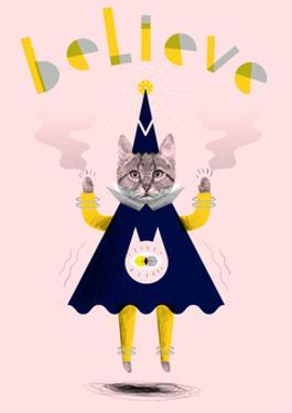 Inspirational Wizard Cat by Jordan Andrew Carter