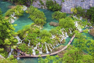 Croatia, Dalmatia, Karlovac, Plitvice, Plitvice national park, Lower lakes