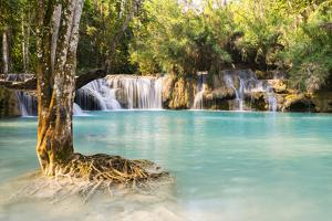 Kuang Si Waterfalls, Luang Prabang Area, Laos, Indochina, Southeast Asia, Asia by Jordan Banks