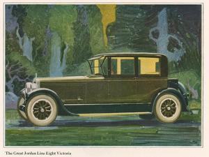 Jordan Line Eight Victoria Car, Magazine Advertisement, USA, 1925