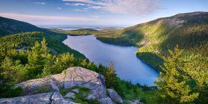 Jordan Pond from the North Bubble, Acadia National Park, Maine, USA