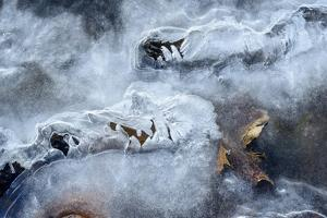 Photograph of Abstract Ice Formations Found by Jordi Elias Grassot