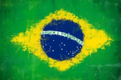 Brazil Painted Flag by jordygraph