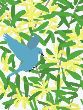 Acacia And Mountain Bluebird by Jorey Hurley