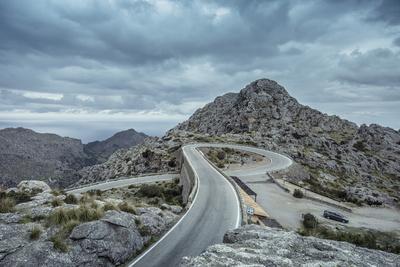 Mountain Pass Road on Majorca, Sa Calobra, Serpentine