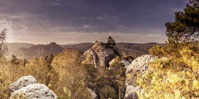 View from the Gamrich in Saxon Switzerland