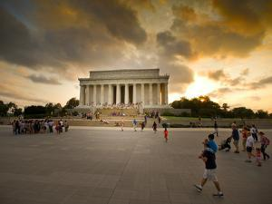A View of the Lincoln Memorial at Sunset by Jorge Fajl