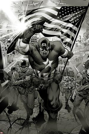 Captain America: Man out of Time No.1: Captain America Charging by Jorge Molina