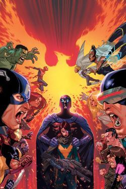 What If? Avx #1 Cover: Hulk, Captain America, Iron Man, Beast, Wolverine, Hope, Magneto by Jorge Molina