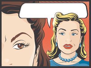 Comic Style Women Gossiping by jorgenmac