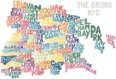 Typograhical Bronx Abstract