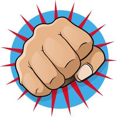 Vintage Pop Art Punching Fist