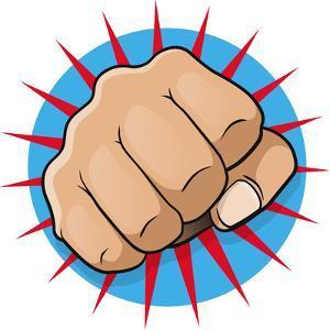 Vintage Pop Art Punching Fist by jorgenmac