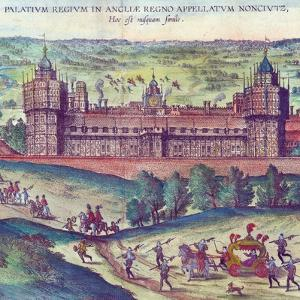 Arrival of Queen Elizabeth I at Nonsuch Palace, 1598 (Detail) by Joris Hoefnagel